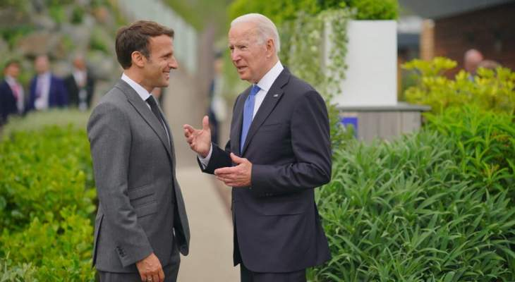 السلطات الفرنسية: ماكرون وبايدن سيجريان مكالمة هاتفية بالأيام المقبلة لبحث أزمة الغواصات