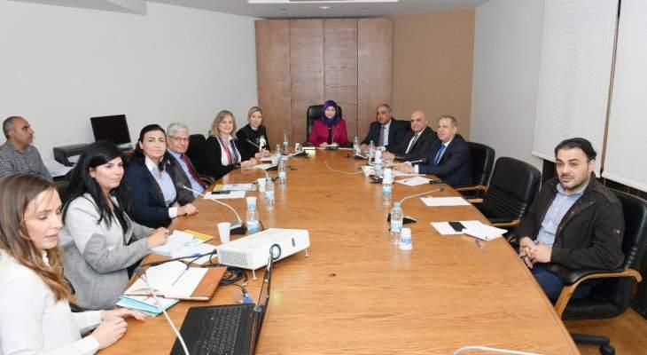 هيئة شؤون المرأة قدمت عرضا عن آلية تنفيذ خطة العمل الوطنية حول المرأة والسلام للجنة المرأة النيابية