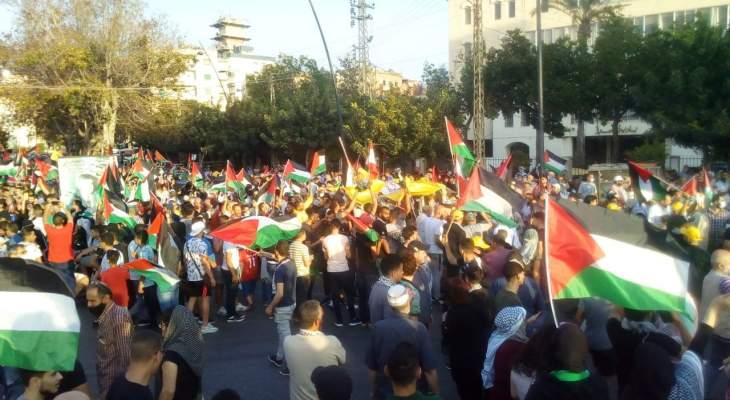 مسيرة شعبية لبنانية فلسطينية في صيدا رفضا للعدوان على غزة