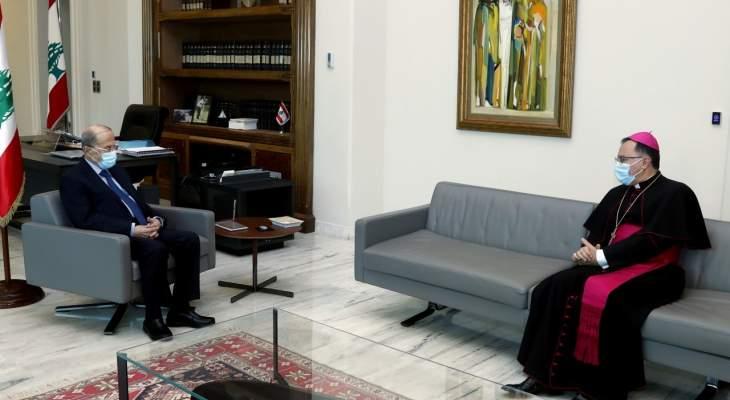 السفير البابوي: البابا مقتنع بزيارة لبنان ويريد ان يأتي لكن ليس هناك من موعد بعد للزيارة