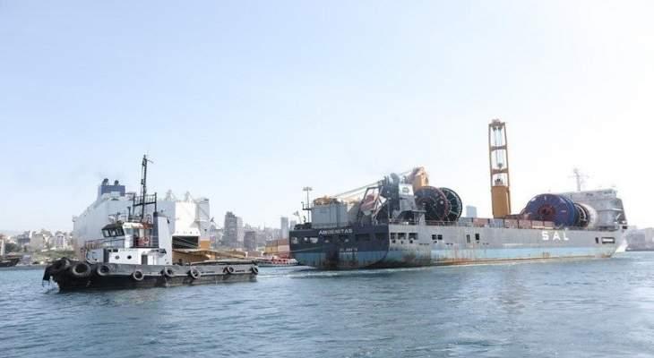 """الباخرة """"اموينيتاس"""" غادرت ميناء بيروت محملة بـ 59 حاوية من المواد الخطرة"""
