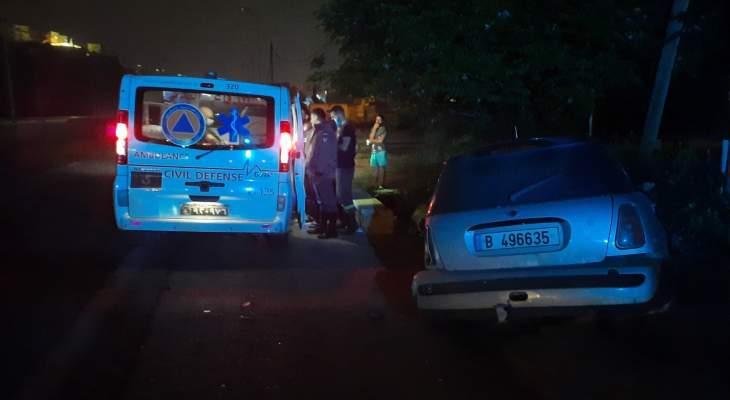 الدفاع المدني: جريحة جراء حادث سير على أوتوستراد الفيدار- جبيل