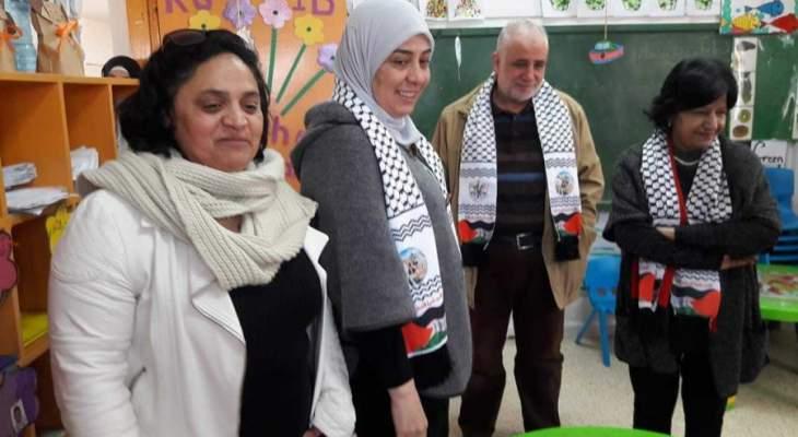 محافظ رام الله والبيرة مخيم الميه وميه وتفقدت مجمع ياسر عرفات