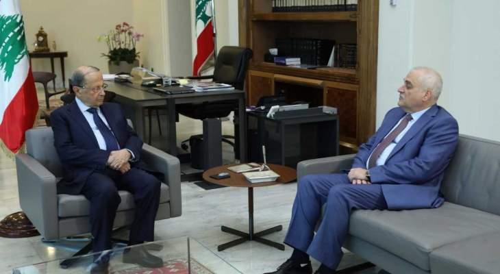 جبق بعد لقائه الرئيس عون : التقشف في الموازنة لم يطل وزارة الصحة