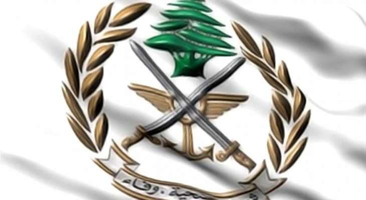 الجيش: توقيف 3 مطلوبين في الهرمل وصبرا بجرائم مختلفة وضبط سيارة مسروقة في القصر