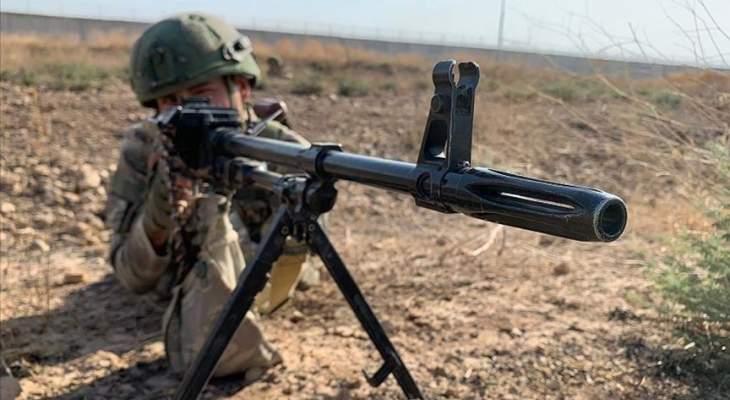 """الدفاع التركية: تحييد """"إرهابيَين"""" من """"ي ب ك"""" في شمالي سوريا"""