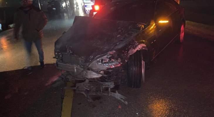النشرة: الدفاع المدني أخمد حريقا شب في سيارة في بلدة برالياس