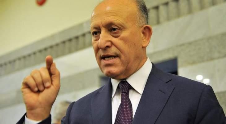 ريفي: يتم عزل لبنان عن العالم وتحويله لبؤرة للإرهاب وتهريب الممنوعات