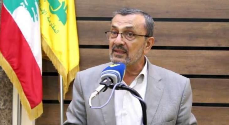 حسن عز الدين: للإسراع بتشكيل حكومة وطنية يكون وزراؤها من أهل الخبرة والتجربة والاختصاص