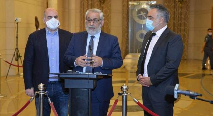 بقرادونيان: أبدينا كل الاستعداد لتحمل المسؤولية بالحكومة العتيدة والأفضل التوافق على أسماء الوزراء