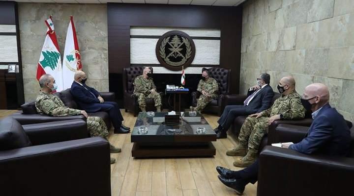 قائد الجيش بحث مع قائد قوات الأمم المتحدة المؤقتة بلبنان الأوضاع العامة على الحدود