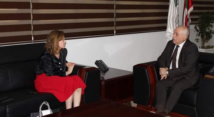 جبق عرض مع جمالي المشاريع الإستشفائية في طرابلس واستقبل سفيرة سويسرا ومديرة ال UNDP