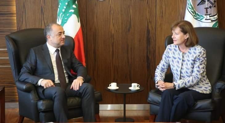 ريتشارد أكدت لبوصعب مواصلة دعم الولايات المتحدة للجيش اللبناني