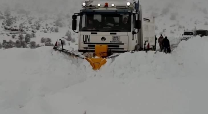 النشرة: موجة برد تلف منطقة حاصبيا وآليات الأشغال تفتح الطرقات المقطوعة بالثلوج
