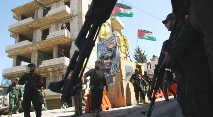 النشرة: اغتيال احد عناصر قوات الامن الفلسطيني داخل مخيم المية ومية