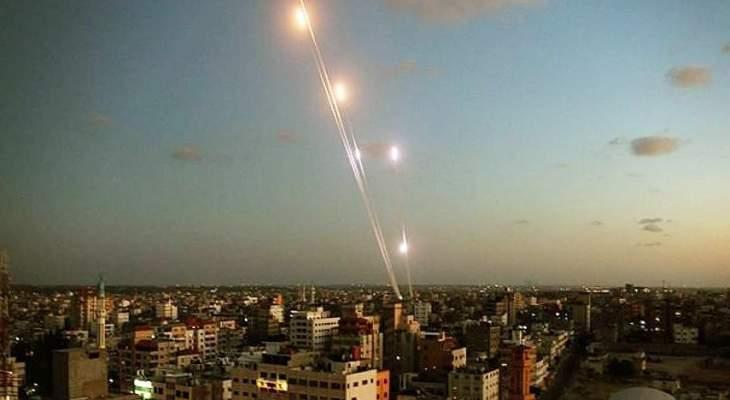 اطلاق صلية من الصواريخ باتجاه مستوطنات غلاف غزة