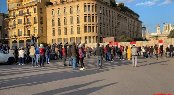 تجمع للمحتجين في محيط مجلس النواب رفضا لجلسات الثقة