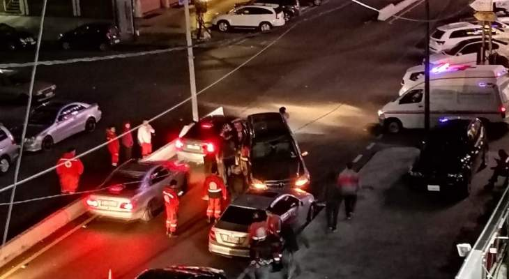 النشرة: حادث سير في شارع رياض الصلح في صيدا