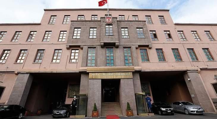 دفاع تركيا: مقتل جنديين بهجوم قرب قاعدة عسكرية على الحدود مع سوريا