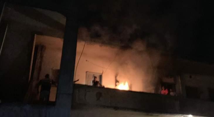 النشرة: اصابة 3 أشخاص اثر حريق في احد المنازل في ابلح