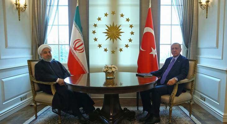 روحاني التقى اردوغان في أنقرة قبيل القمة الثلاثية حول سوريا
