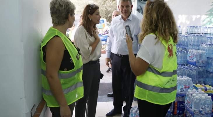 """لازاريني زار يعقوبيان واطلع على جهود """"حملة دفى"""" لاغاثة المتضررين من الحرائق"""