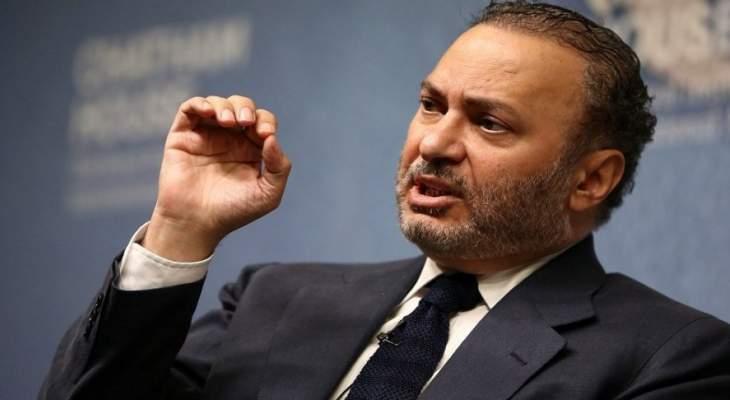 قرقاش: البيان السداسي حول ليبيا موقف مهم لصالح السلام