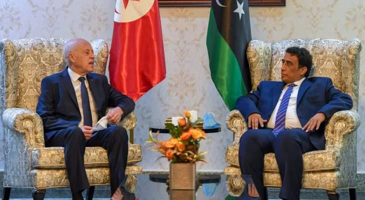 سعيد: الوقت حان لتجاوز الجفاء بين ليبيا وتونس وتاريخنا حافل بمظاهر الوحدة