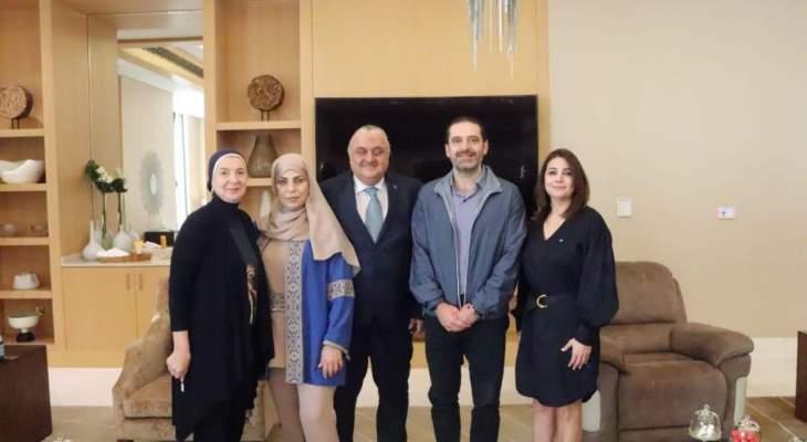 """الحريري بحث مع وفد من منسقية أبو ظبي في """"المستقبل"""" بشؤون سياسية واغترابية"""