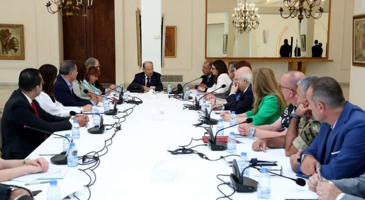 الرئيس عون أعطى توجيهاته للجنة العليا لتنظيم التحضيرات للاحتفالات بمئوية لبنان الكبير
