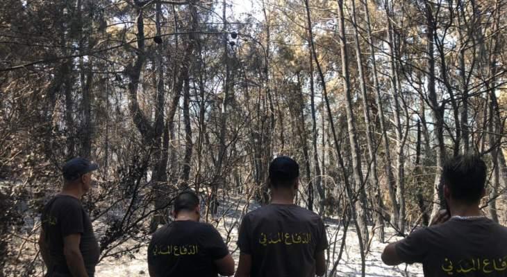 الدفاع المدني: انتهاء عمليات الإطفاء بالأحراج الممتدة من القبيات إلى الهرمل واستمرارها في دير القمر