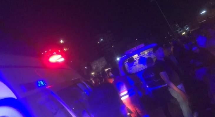 النشرة: جريحة جراء حادث مروري عند الكورنيش البحري لمدينة صيدا