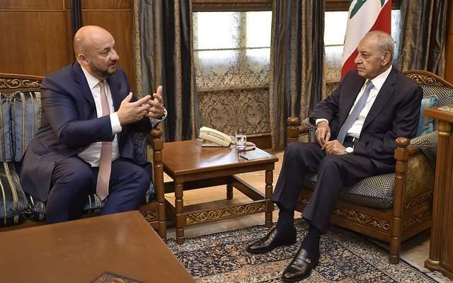 بري بحث مع نائب رئيس حكومة اللوكسبورغ العلاقات الثنائية بين البلدين