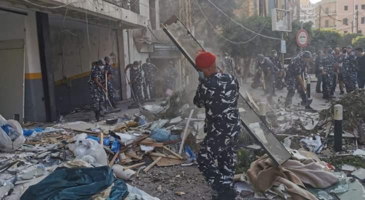 قوى الامن تعلن حصيلة المهام التي قامت بها بعد مرور اسبوع على انفجار مرفأ بيروت