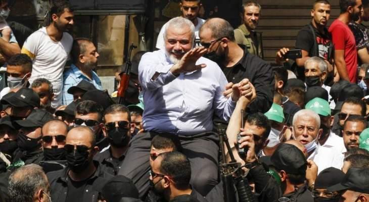 زيارة هنية تثير ضجة لبنانية حول المواقف... وايجابية فلسطينية رغم العراقيل بانهاء الانقسام