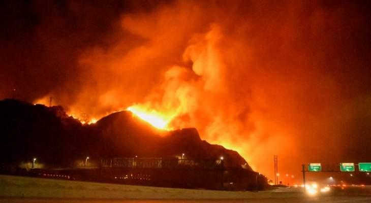 تراجُع حدة حرائق الغابات في جنوب كاليفورنيا وإلغاء أوامر إجلاء السكان