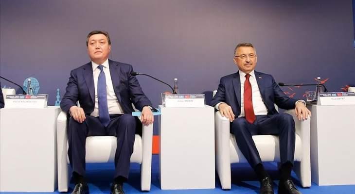 رئيس وزراء كازاخستان: حريصون على تطوير التعاون مع تركيا