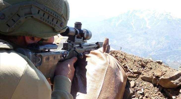 """الدفاع التركية: تحييد 8 إرهابيين من """"بي كا كا"""" شمالي سوريا"""