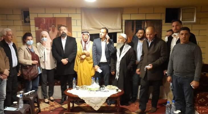 منسق عام بيروت في تيار المستقبل زار ديوانية الشيخ ابو سلطان الشاهين