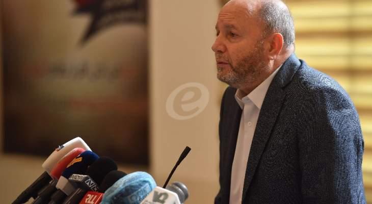 الأسمر: نطالب بتشكيل حكومة فاعلة بغطاء سياسي لا لتقاذف بيانات وتهم