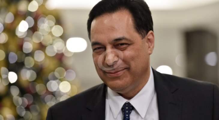 وصول حسان دياب إلى السراي الحكومي