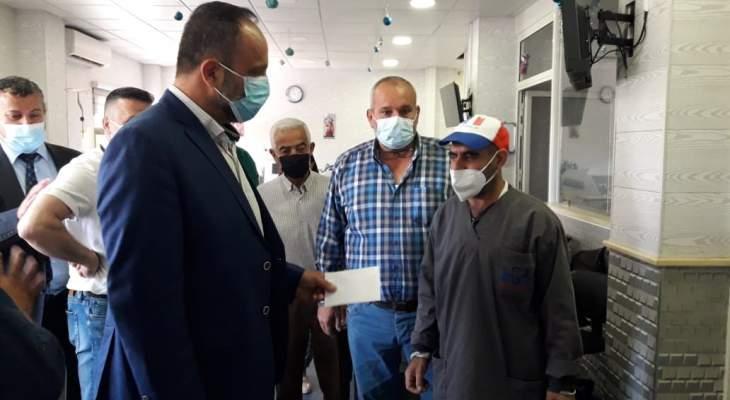 النشرة: مساعدة مالية لموظفي مستشفى حاصبيا من المغترب غسان قنتيس