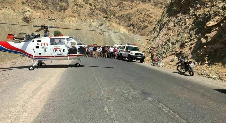 مقتل 16 شخصاً في حادث انقلاب حافلة غرب إيران