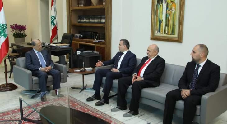 الرئيس عون تابع اوضاع المناطق اللبنانية وعمل المنظمة الفرانكوفونية