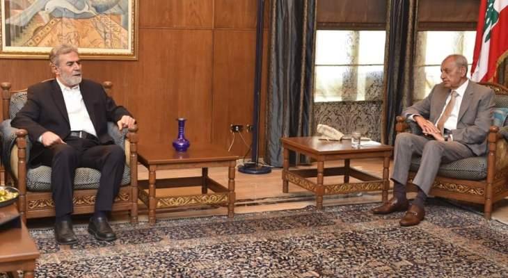 نخالة: بري أكد أهمية المحافظة على الموقف الفلسطيني الموحد بمواجهة إسرائيل