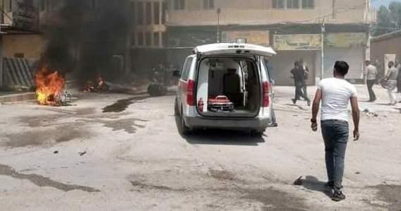 """سانا: إصابة عدد من المدنيين بانفجار دراجة نارية أمام أحد مقرات """"قسد"""" بمدينة الشدادي"""