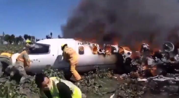 الشرطة المكسيكية: مقتل 7 أشخاص بتحطم طائرة عسكرية شرق البلاد
