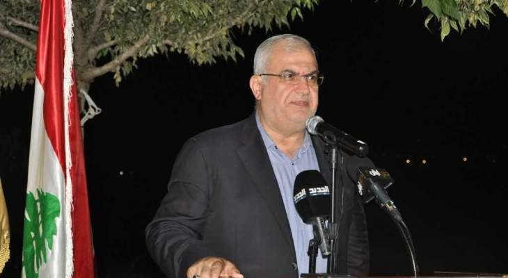 رعد: سنتابع مع بري لمنع إسرائيل من تحقيق مآربها بالمنطقة المتنازع عليها بالبحر على حساب مصالحنا