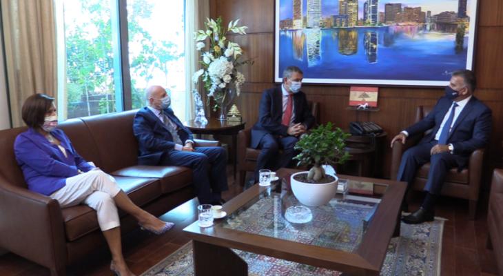 ابراهيم التقى لازاريني ووفدا من الاونروا وبحث معهم شؤون اللاجئين