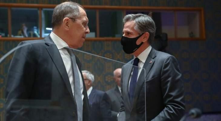 الخارجية الروسية: لافروف لم يعقد أي لقاء مع بلينكن